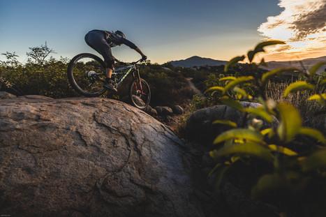 Mountain Bike Photography: Mountain biker, Kialan Hines, riding in San Diego, CA