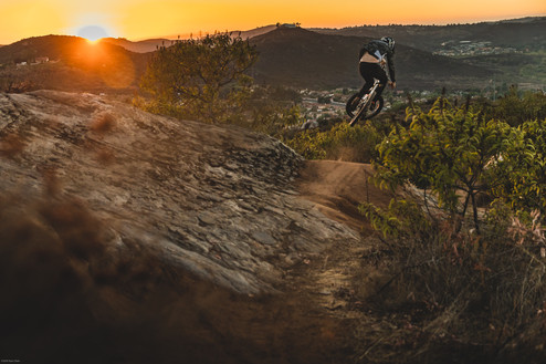 Mountain Bike Photography: Pro mountain biker, Luca Cometti, in San Diego, CA
