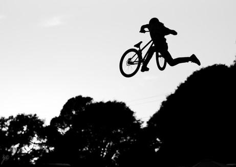 Mountain Bike Photography: Pro mountain biker in Santa Cruz, CA.