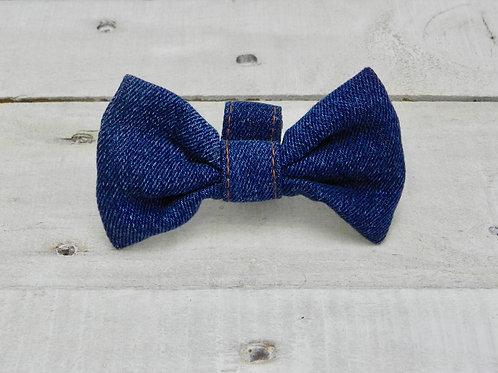 Recycled Denim Bow Tie