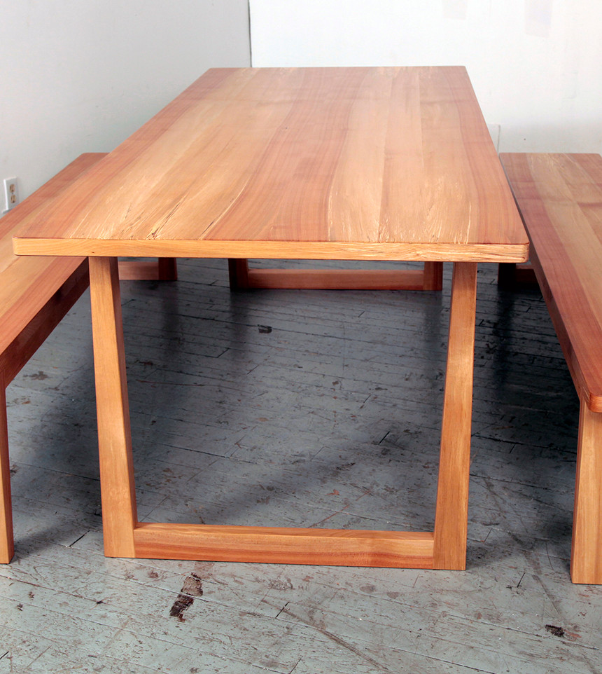 Yellow Birch Table & Benches