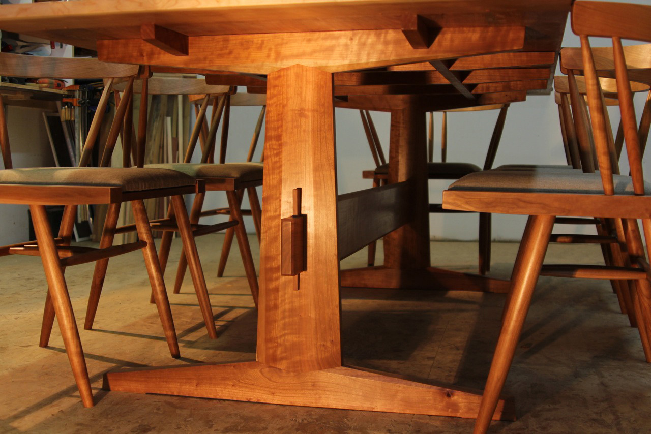 Cherry Dining Table & Chairs