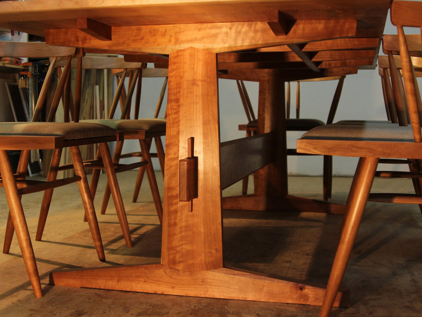 Nakashima-inspired Cherry Dining Table & Chairs