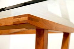 Glass-top Cherry Table