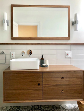 Walnut Vanity & Mirror