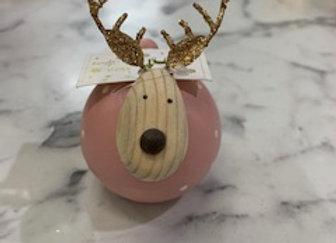 Round Reindeer Standing Decoration - small