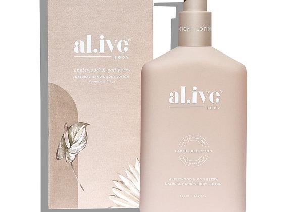 al.ive - Hand & Body Lotion - Applewood & Goji Berry