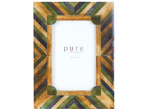 Forest Bone Green Natural Inlay Frame