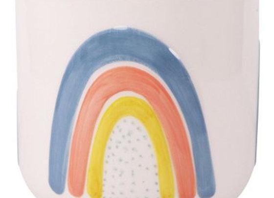 Colourful Rainbow Pot - medium