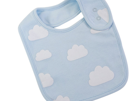 Emotion & Kids - Pale Blue Clouds Bib