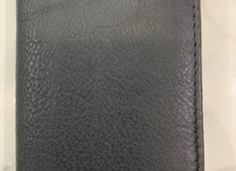 Mens Leather Card Holder - Black
