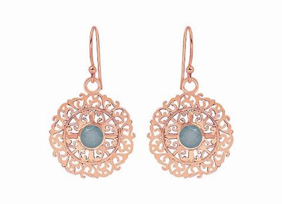 Susan Rose - Indie Filigree - Aqua Chalcy Earring