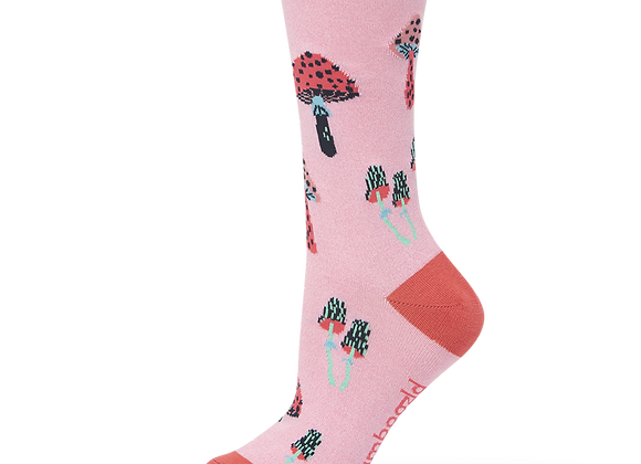 Bamboozld Ladies Sock -Enchanted Mushroom