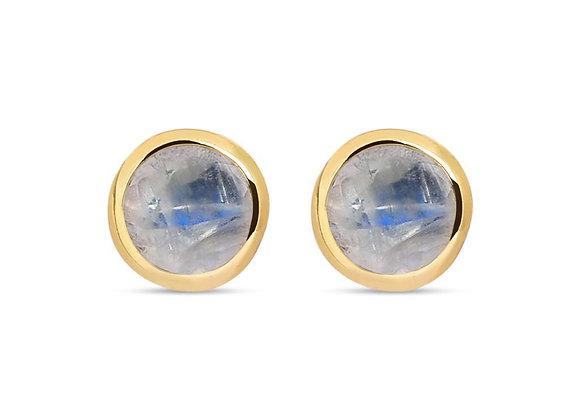 Susan Rose - Diva Gold Moonstone Stud Earring