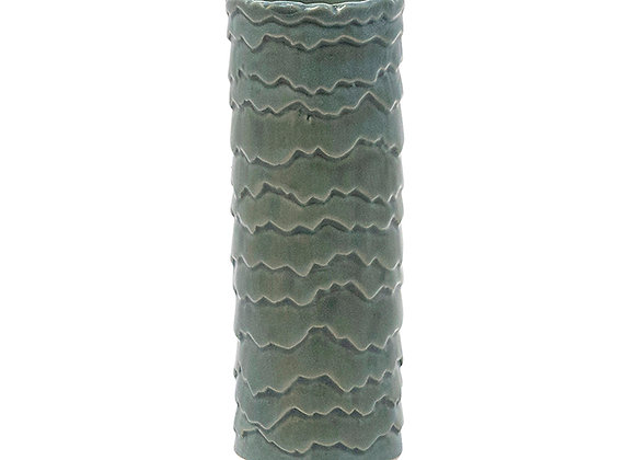 Sage Ceramic Narrow Cylinder Vase