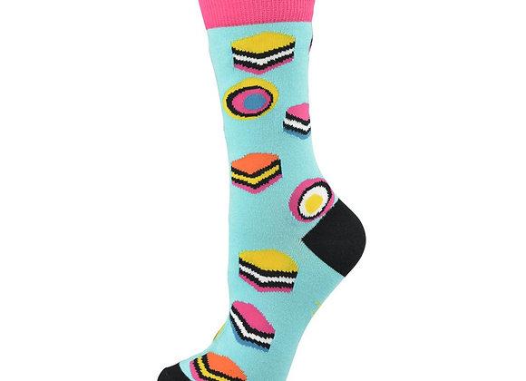Bamboozld Ladies Sock - Licorice Allsorts