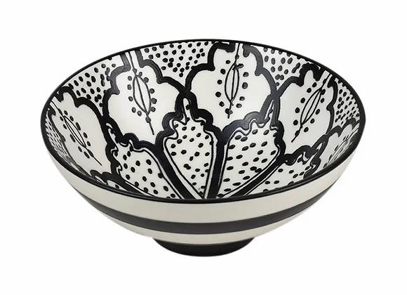 Ceramic Bowl Black White - med