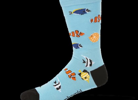 Bamboozld Men's Sock -Aquarium