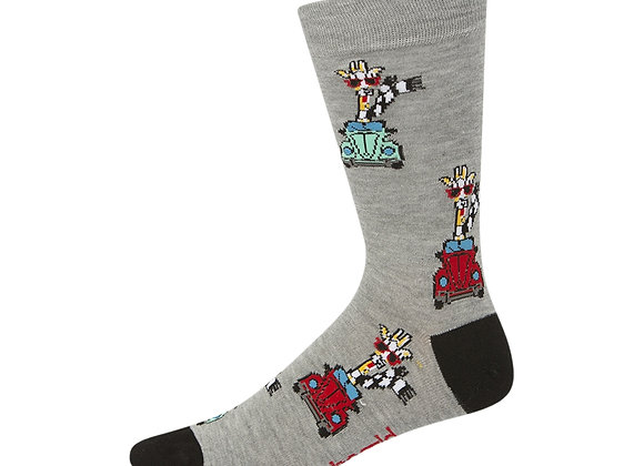 Bamboozld Men's Sock - Driving Giraffe
