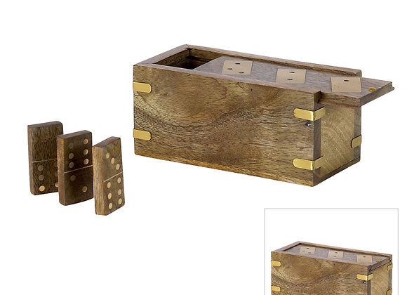 Mango & Brass Box with Dominos