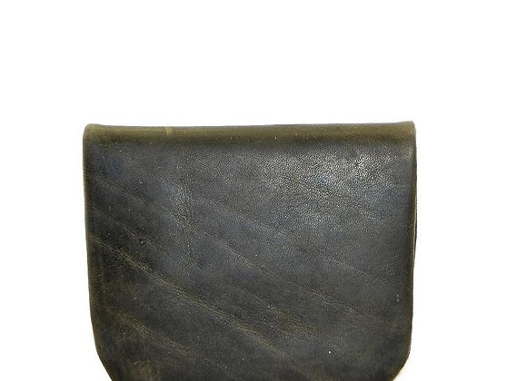 Mens Leather Coin Pouch - Dark Olive