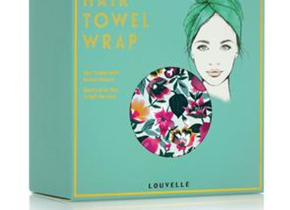 Louvelle - Riva Hair Towel Wrap -Aqua Bloom