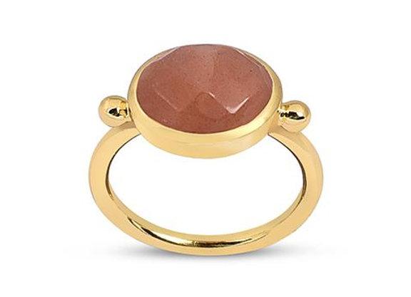 Susan Rose - Maasai - Peach Moonstone Ring