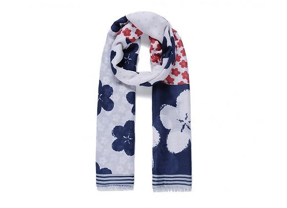 Lilly Co - Navy Floral Scarf