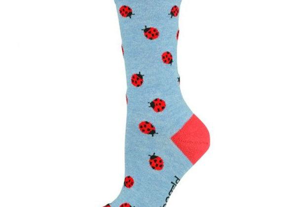 Bamboozld Ladies Sock - Ladybug