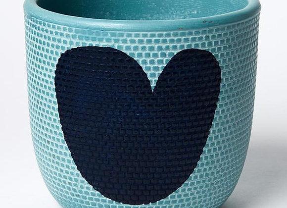 Jones & Co - Heart Pot Blue