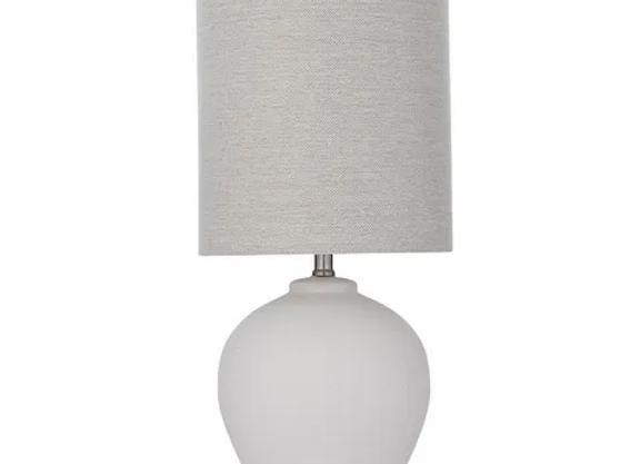 Lamp Ceramic White/Natural Shade