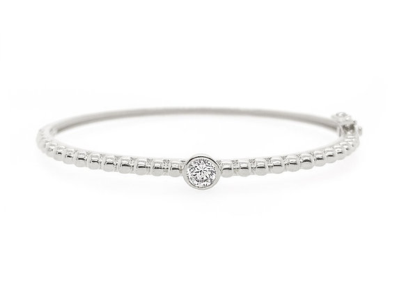 Sybella - Rhodium & cubic zirconia bangle