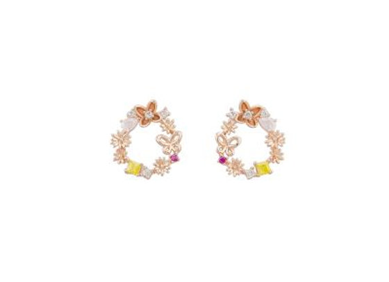 Tiger Tree -Rose Gold Flower Garden Crystal E/R