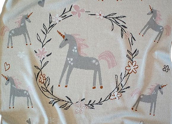 Indus Cotton Blanket - Unicorn