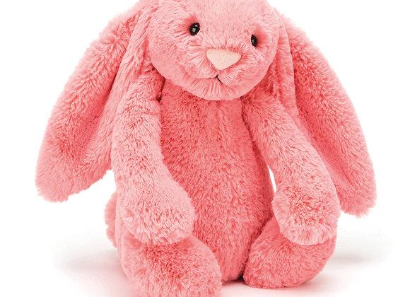 Jellycat Bashful Bunny Medium -Coral