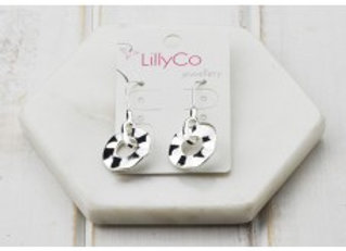LillyCo - Silver Small Circle Earring