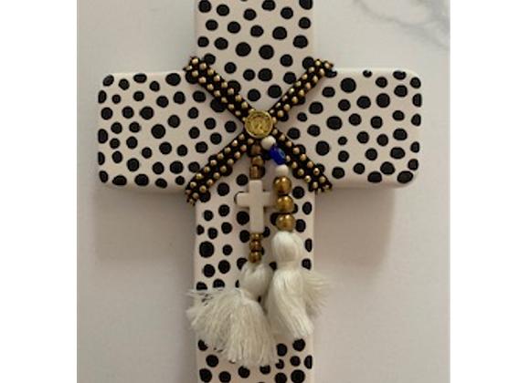 George & Cole - Hermes Black Spot Small Ceramic Cross
