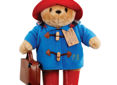 Paddington Bear with Suitcase, Boots & Embroided Coat