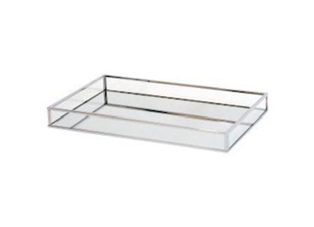 Silver Rectangular Mirror Tray