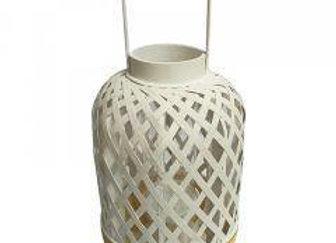 Bamboo Lantern large - White/Natural