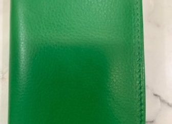 Mens Leather Card Holder - Green