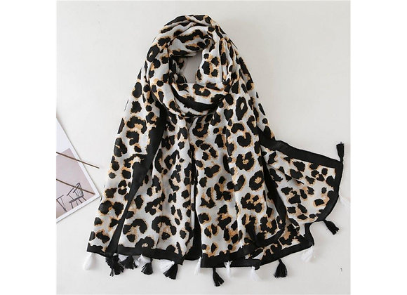 LillyCo - Cream Animal Print Scarf
