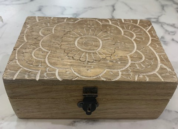 Timber Box -Carved Top