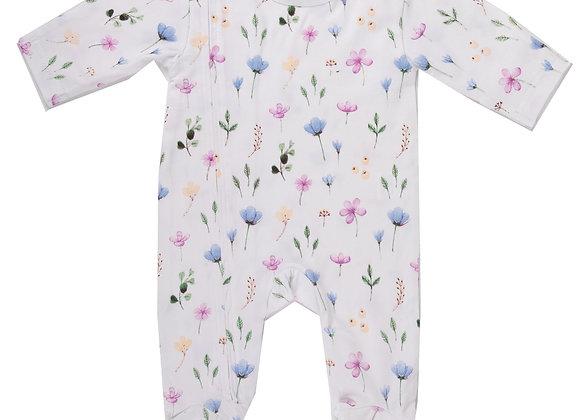 Emotion & Kids - Fleur Zipped Organic Cotton Outfit