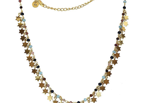 Susan Rose - Stella Multi Stone and Stars Necklace