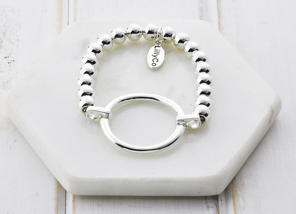Lilly Co - Silver Ring Pull Bracelet