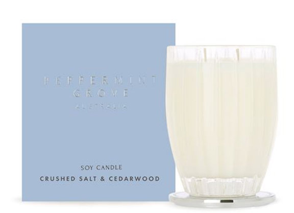 Peppermint Grove - Crushed Salt & Cedarwood Large Candle 350g