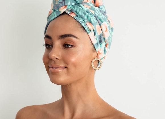 Louvelle - Riva Hair Towel Wrap - Poolside Peony