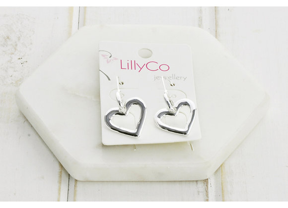 LillyCo - Silver Heart Earring