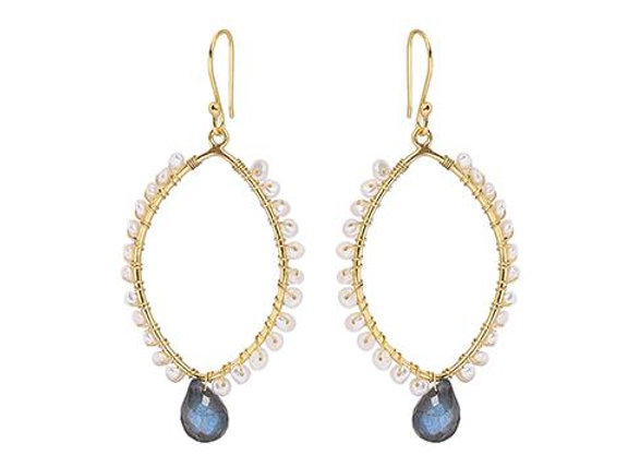 Susan Rose - Ananya - Pearl & Labradorite Earring